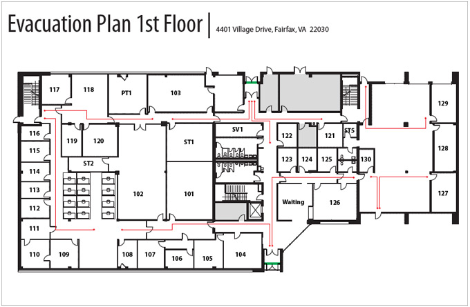 Evacuation Plan 1st Floor