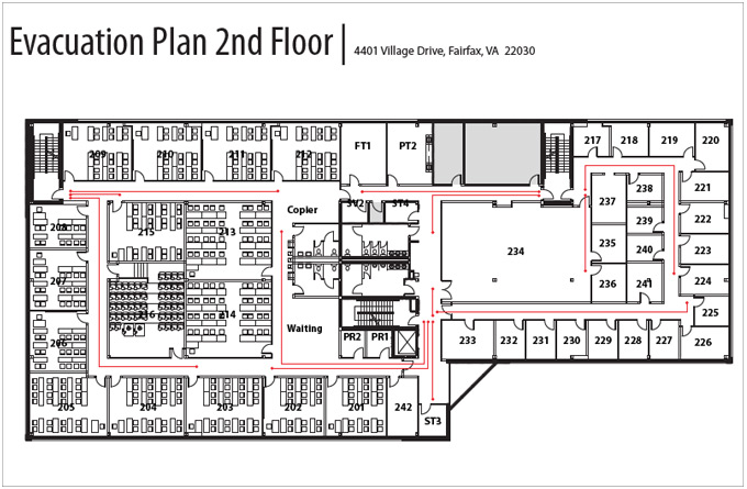 Evacuation Plan 2nd Floor