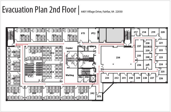 Evacuation Plan 2nd Floor