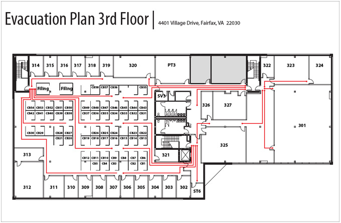 Evacuation Plan 3rd Floor
