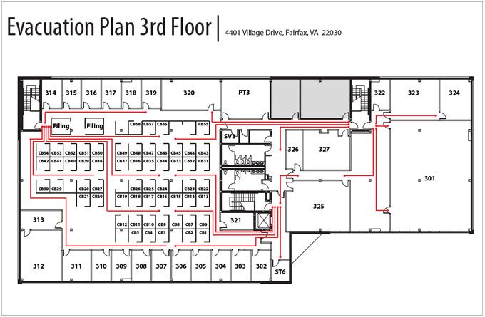 Evacuation Plan 3rd Floor