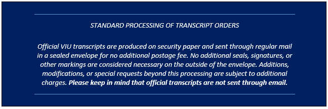 Transcript Request Instruction